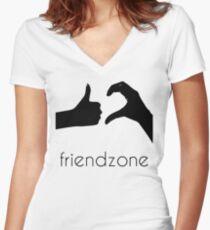 FRIENDZONE Women's Fitted V-Neck T-Shirt