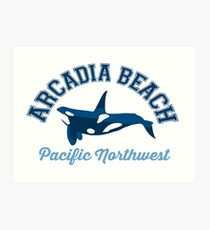 Arcadia Beach - Oregon. Art Print