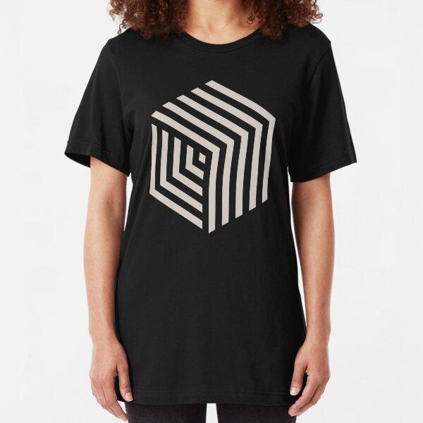 Hexa-Würfel Slim Fit T-Shirt