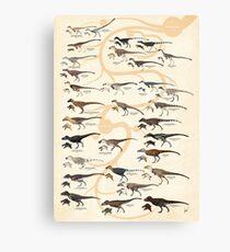 Tyrannosauroid Dinosaurs Canvas Print
