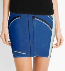 Blue Shutter Pipe Mini Skirt