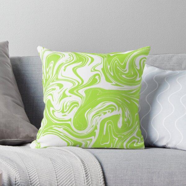 Key Lime Marble Swirl Throw Pillow
