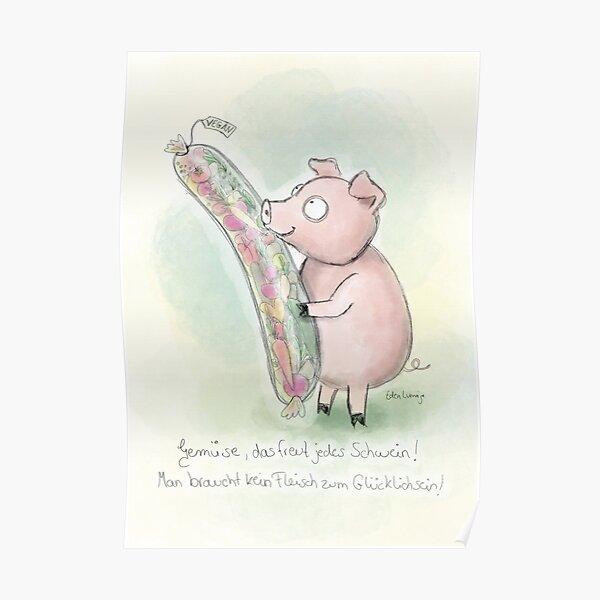 Gemüse Schwein Poster