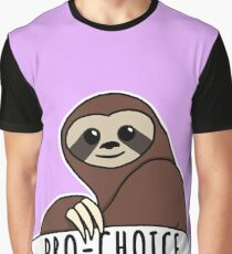 "Feminist Sloth ""Pro-Choice"" Graphic T-Shirt"