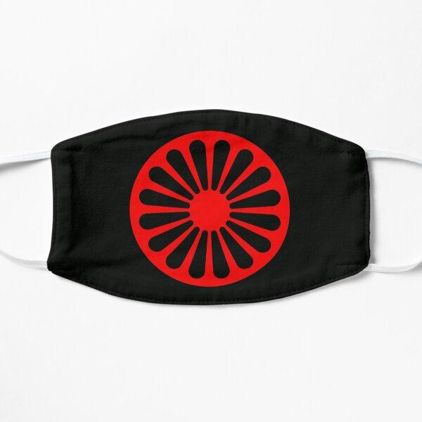 Romani anarchist flag Flat Mask