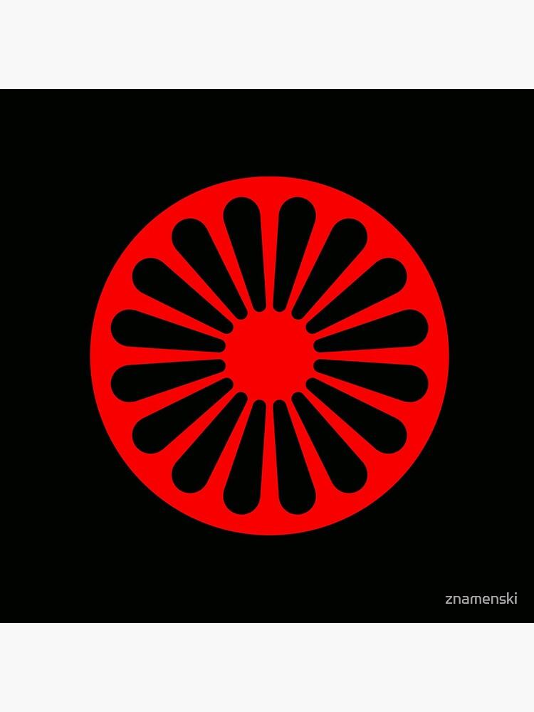 Romani anarchist flag by znamenski