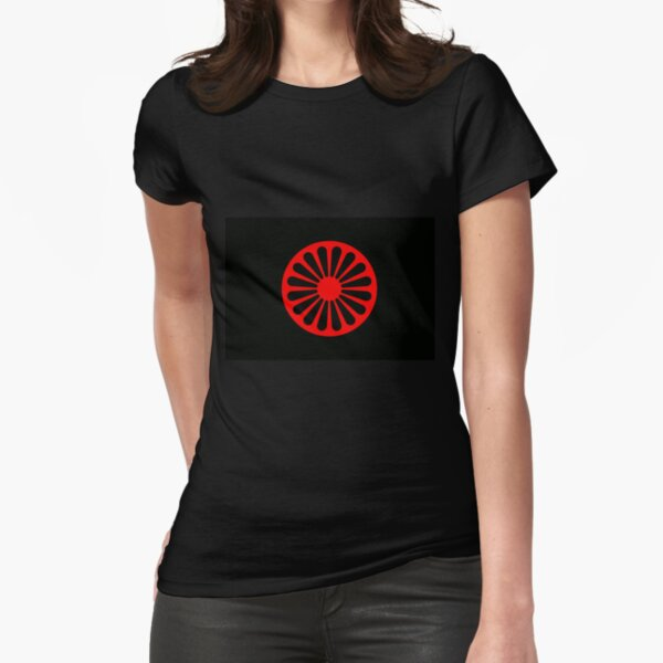 Romani anarchist flag Fitted T-Shirt