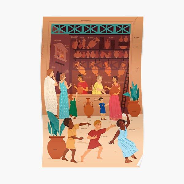 Mercatus Romanus - Latin Language Learning Poster