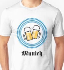 Munich 2 Beer (Bavaria Germany) Slim Fit T-Shirt