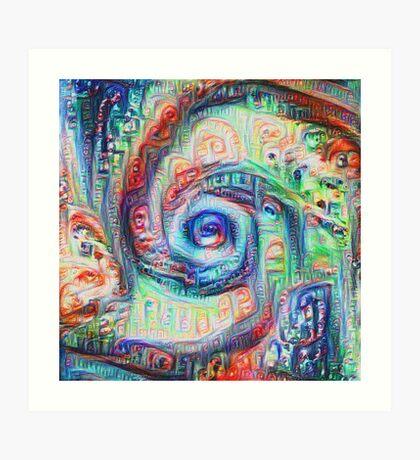 Vortex dragon #DeepDream A Art Print