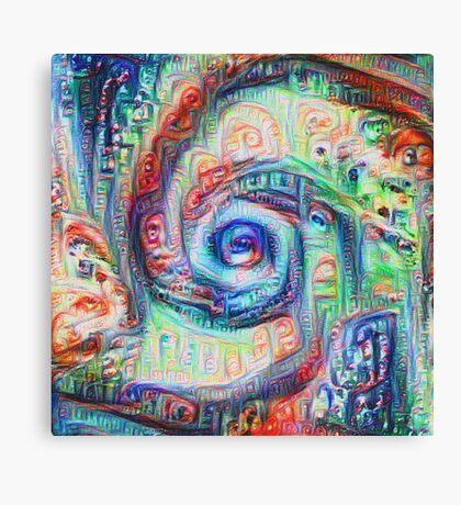 Vortex dragon #DeepDream A Canvas Print