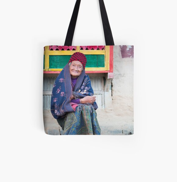 Aunty All Over Print Tote Bag