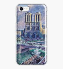 Maximilien Luce Notre Dame De Paris 1900  iPhone Case/Skin