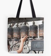 Prayer wheel Tote Bag