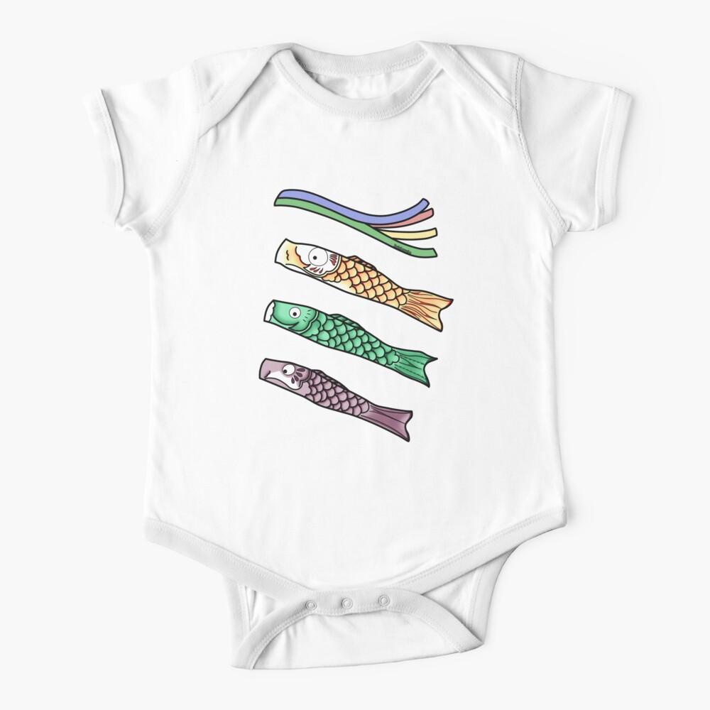 Koinobori - Japanese carp-shaped wind socks Baby One-Piece