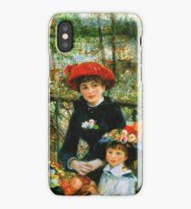 Renoir Auguste - On The Terrace 1881 iPhone Case/Skin