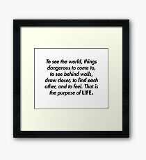 Walter Mitty LIFE Magazine Motto Framed Print