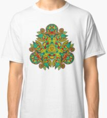 Mandala en triangle, feuilles d'automne T-shirt classique