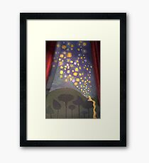 The Floating Lights Framed Print