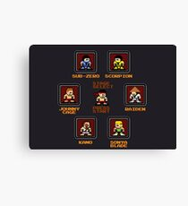 8-bit Mortal Kombat 'Megaman' Stage Select Screen Canvas Print