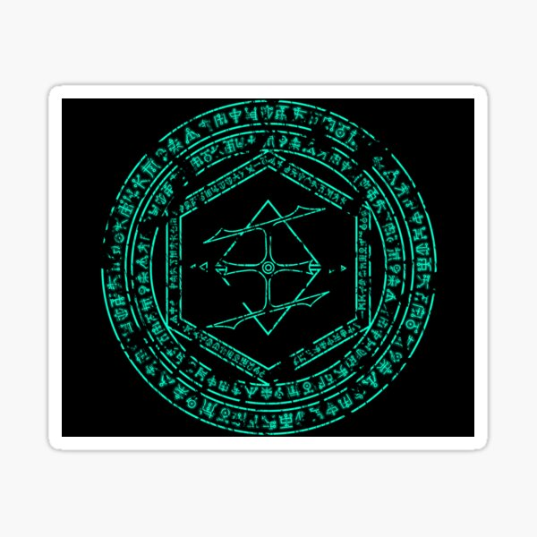 Doom Eternal Distressed Crystal Ritual Sticker