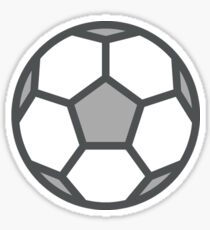 White Soccer Ball / Football Icon Sticker