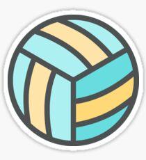 Volleyball Art Icon Sticker