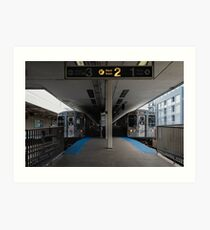CTA Brown Line Art Print