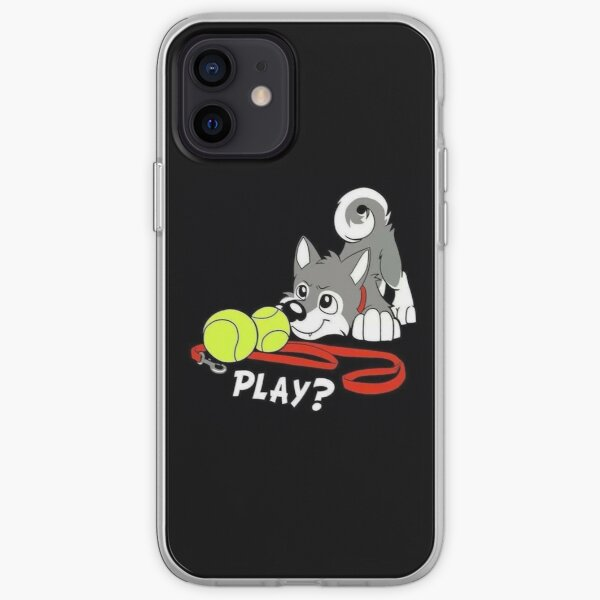 Welpe spielen Ball iPhone Flexible Hülle