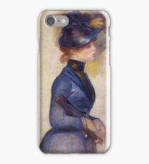 Renoir Auguste - Young Woman In Bright Blue At The Conservatory 1877 iPhone Case/Skin