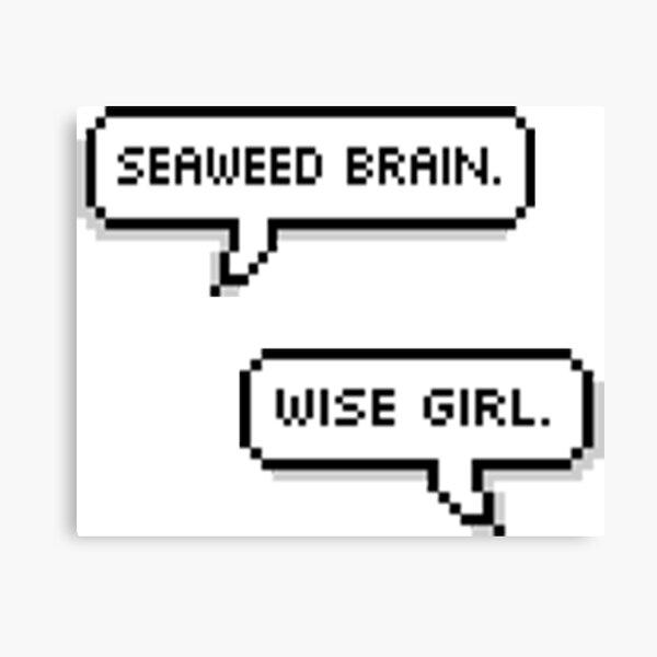 Seaweed Brain and Wise Girl Canvas Print