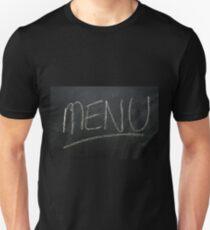 Menu written on a chalk board T-Shirt