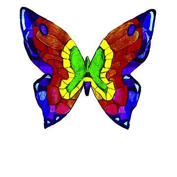 Nicker Mason Schmetterling T-Shirt von dollymod