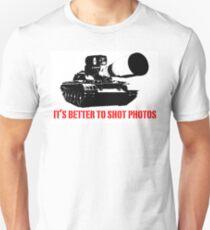 canon cannon better to shot photos Unisex T-Shirt