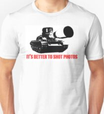 canon cannon better to shot photos T-Shirt