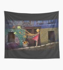Valparaiso MK tapestry / wall hanging + English Text © E.Tchijakoff Wall Tapestry