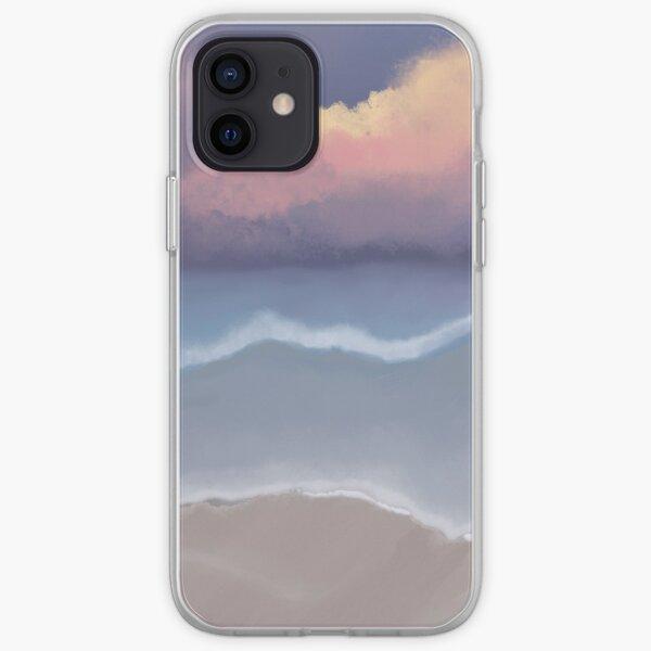 Gorgeous sunset over ocean art piece  iPhone Soft Case