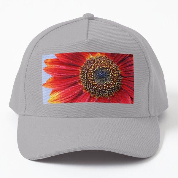 Ruby Red Sunflower Baseball Cap
