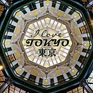 I Love Tokyo Japan Station Dome After Restoration by Beverly Claire Kaiya