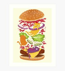 Cat Burger Art Print
