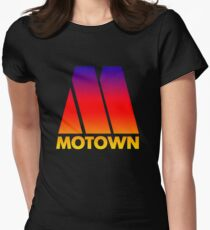 MOTOWN DISCO RECORDS (SUNSET) Womens Fitted T-Shirt