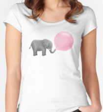 Jumbo Bubble Gum Women's Fitted Scoop T-Shirt