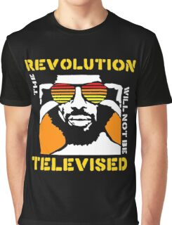 REVOLUTION WILL NOT BE TELEVISED GIL SCOTT HERON (SUMMER) Graphic T-Shirt