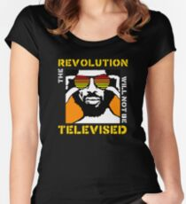 REVOLUTION WILL NOT BE TELEVISED GIL SCOTT HERON (SUMMER) Women's Fitted Scoop T-Shirt