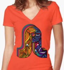 PL Pretty Lights Music Logo 1 Women's Fitted V-Neck T-Shirt