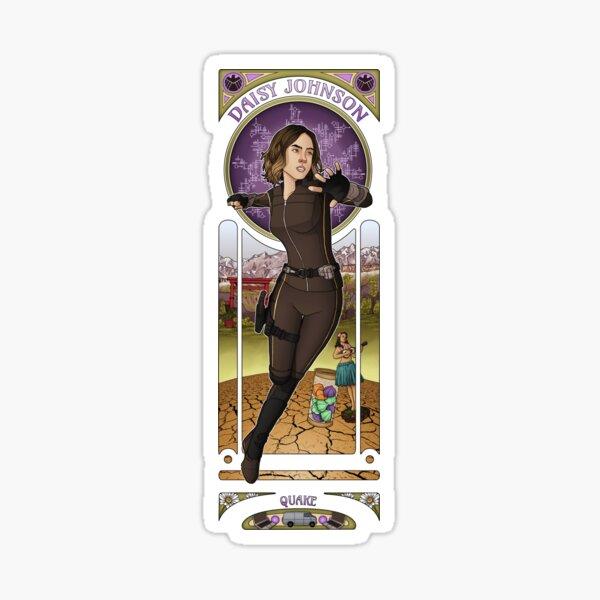 Art Nouveau - Daisy Johnson Sticker