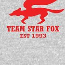 Star Fox Emblem Red by SugoiTees
