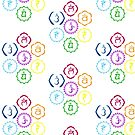 The 7 Main Chakras in a Circle by cinn