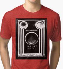 Vintage Kodak Brownie Camera Tri-blend T-Shirt