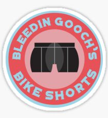 Bleedin Gooch's Bike Shorts Sticker